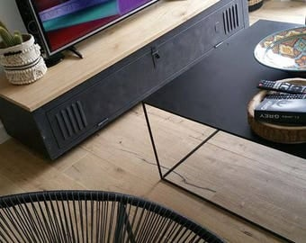 Mudroom industrial tv stand