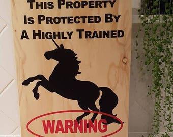 Unicorn Wooden Sign