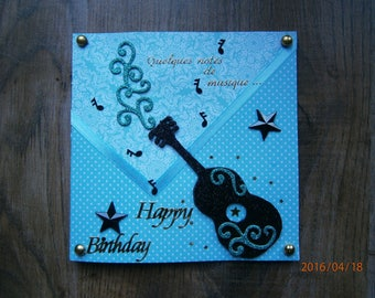 """Some musical notes"" birthday card"