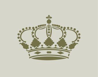 Royal Crown. Royal Crown stencil. Crown design (ref 345)
