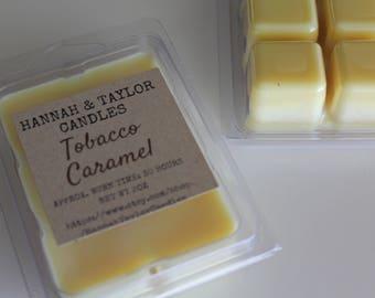 Tobacco Caramel Wax Melt | Handmade Wax Tart | Tobacco Caramel Scented Wax Tart | Tobacco Caramel Candle | Tobacco Caramel Soy Wax Melt
