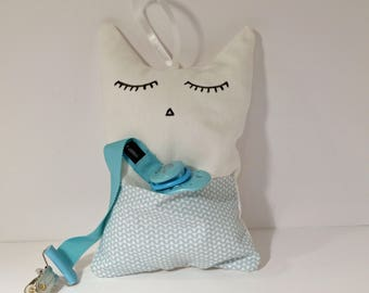 Mini-Hibou decoration for a nursery of child, to hold the pacifier or milk teeth