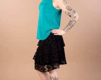 original lace ruffle skirt