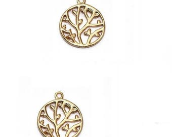 Circle with gold vermeil filigree branches