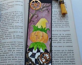 Watercolor, the awakening of the pumpkin King, 16 x 5 cm bookmark