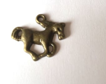 bronze metal galloping horse