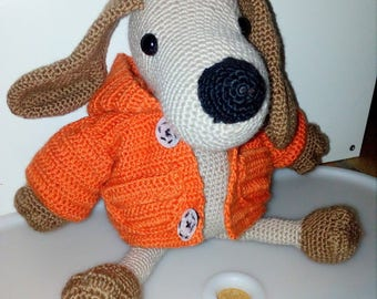 A great big dog with his coat, amigurumi handmade crochet