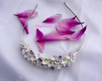 Headband wedding headband with flowers, hair accessories, wedding headband