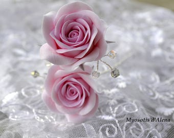 Flowers for bridal hair flowers for bridal hair accessories, pins with flowers, flowers wedding hair pins