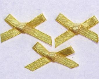 25 x 3mm - yellow - 2314 Satin Ribbon bows