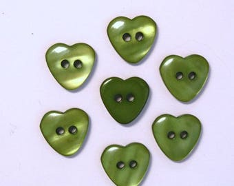 Set of 10 d01613 13mm heart - buttons 001983