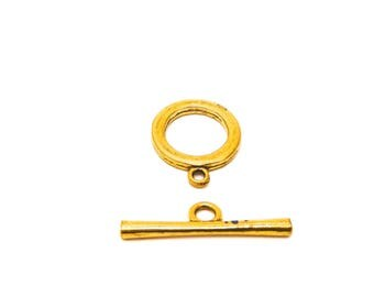 20 metal toggle clasps Gold 2.5 cm bar 3,5 cm