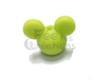 Pearls with earrings (green) silicone pacifier, rattle etc.
