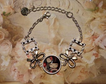 METAL BRACELET SILVER CHINESE DOLL