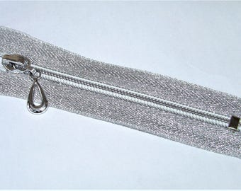 Closure silver sparkly not Separable number 5 to 10cm to 60cm