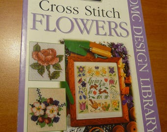 little book DMC cross stitch flowers ( 100 designs )