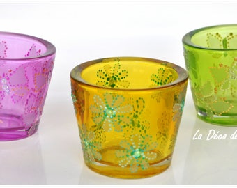 The colors of summer candles