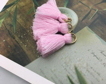 Tassel with removable ring / ROSE / height 2cm