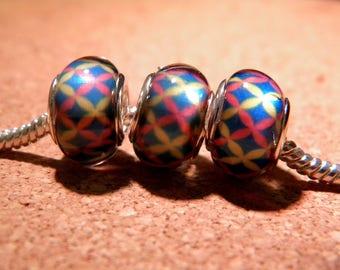 2 beads charm European - style 14 mm - 10 D104 pandor@-