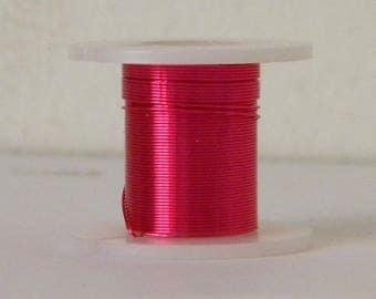 1 reel of 0.3 mm fuchsia copper wire (3 M)