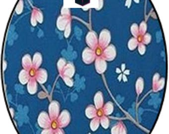 1 cabochon clear 18mm x 13mm flower theme