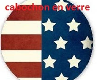 1 glass cabochon 16 mm for loop or ring America