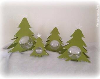 Christmas tree 17.5 cm + ball transparent 6 cm