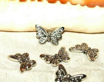 Beads X 10 silver Tibetan 10 X 0, 5mm