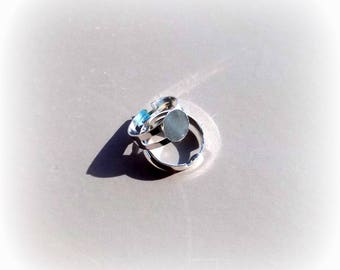 Support ring adjustable silver metal. 57-62