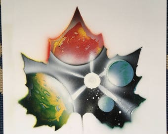 Planets in a leaf