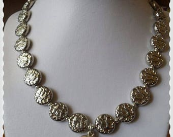 Silver pendants and dog tags necklace long average