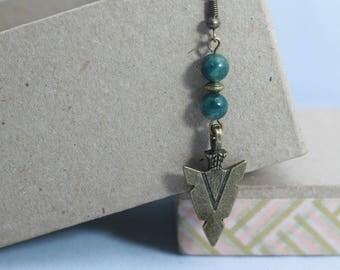 Bronze arrow head earrings