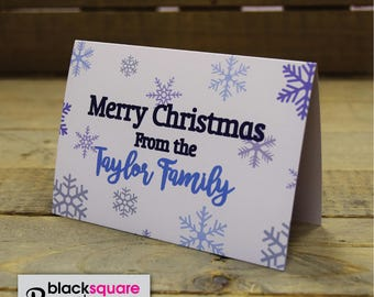 Personalised Christmas Cards with envelopes - Pack of 10 Custom Xmas Cards