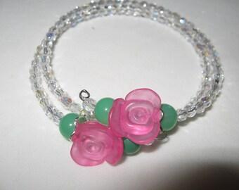 """my spring roses"" bracelet"