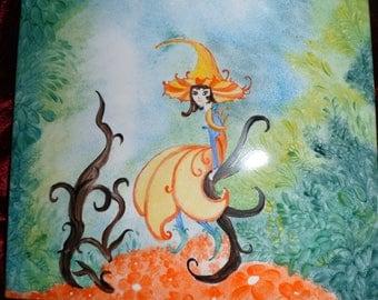 plate holder or villa fairy plate