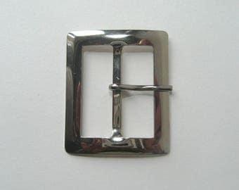 Rectangular belt buckle, silver, 55 X 46.