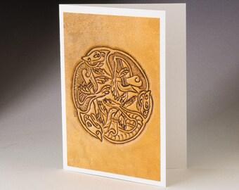 Three Dog Circle from Book of Kells