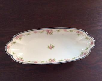 Vintage Porcelain Nippon Celery Dish - Hand Painted