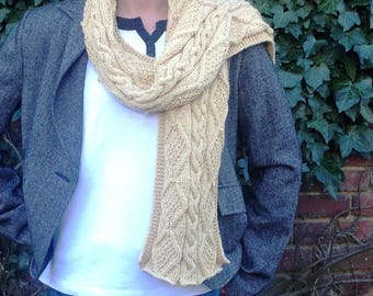 """Long knitted scarf handmade collection """"variation"""""""