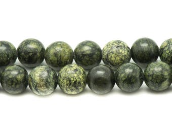 10pc - beads of stone - Serpentine balls 10mm 4558550031112