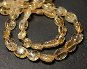 10pc - stone beads - Citrine oval 8-15mm - 8741140011731 Olives