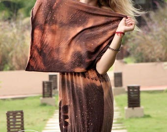 Dress with shawl Elegant Full dress