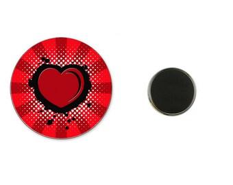Heart red - 25 mm Magnet magnet