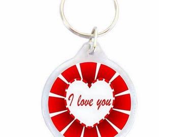 Keychain I love You - keychain