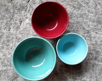Bauer Beehive Bowls. Set of 3