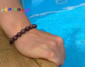 Garnet stone bracelet