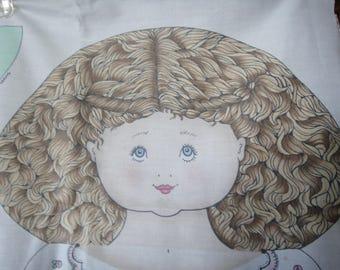 Vintage doll panel from Daisy Kingdom