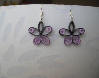 Paper butterfly earrings, quilling
