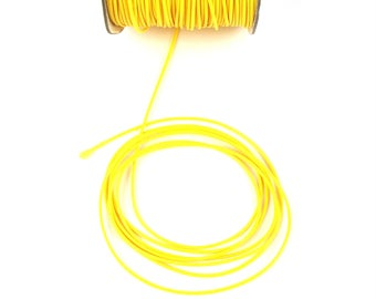2 meters of waxed cord yellow 1 mm in diameter