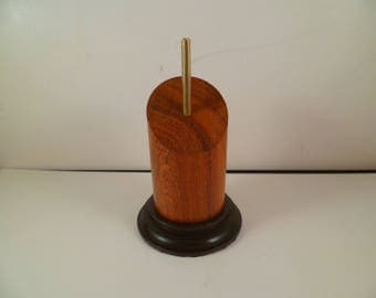 Stand for figurines busts round wooden Pan cut srpcip4